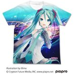 初音ミク V3 フルグラフィックTシャツ ver.2.0/ホワイト-S(再販)[コスパ]《07月予約》