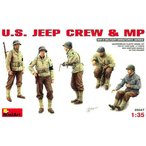 Mini Art Plastics U.S Jeep Crew and MP  並行輸入品
