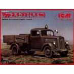 1/35 ドイツ オペルブリッツ 1.5tトラック (2.5-32型) プラモデル(再販)[ICM]《取り寄せ※暫定》