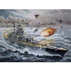 1/350 ドイツ戦艦 ビスマルク(プレミアムエディション) プラモデル[ドイツレベル]【送料無料】《取り寄せ※暫定》