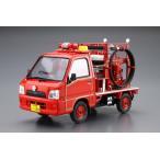 ザ・モデルカー No.50 1/24 スバル TT2 サンバー消防車 '08 スバル大泉工場パッケージ プラモデル[アオシマ]《取り寄せ※暫定》