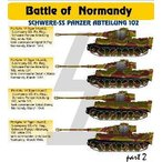 1/48 VI号戦車ティーガーI ノルマンディーの戦いパート2 「SS第102重戦車大隊」 デカール[Hモデルデカール]《07月予約※暫定》