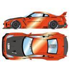 1/43 LB WORKS R35 GT-R Type 1.5 (LB Shilhouette Wing) キャンディオレンジ/ブラックストライプ[メイクアップ]【送料無料】《11月予約》