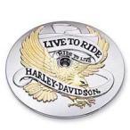 29289-90T ゴールド・LIVE TO RIDEロゴ コレクション エアクリーナートリム 【ハーレー純正カスタムパーツ】