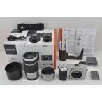 SONY α6000 ILCE-6000Y シルバー + E PZ 16-50mm F3.5-5.6 OSS + E 55-210mm F4.5-6.3 OSS ダブルズームキット