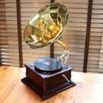 レコード再生 蓄音機 ヤフー 限定共鳴パーツ付き アンティークテイスト この安定しな