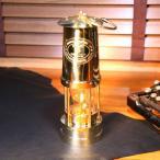 灯油ランプ 炭鉱ランプ フルブラス 真鍮 オイルランプ 英国製 イートーマス&ウィリアムス