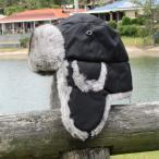 防寒帽 フライトキャップ ラビットファー 飛行帽 ロシア帽 メンズ Green in a Bottle  ホットシェル フィールダー ブラック 釣り 散歩 オーロラ鑑賞