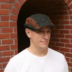 ショッピングハンチング レザーキャップ 帽子 メンズ 革 VATGE カンガルーレザーハンチング ブラック/ブラウン
