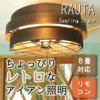 RAUTA ラウタ 3灯シーリングライト おしゃれ 天井 天井照明 3灯 ライト リモコン付 リビング ダイニング 寝室 明るい 6畳 8畳 インテリア LED 北欧 鉄 レトロ