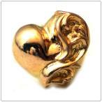 クロムハーツ(Chrome Hearts)ピアス ハート スタッドK22ゴールド