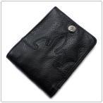 クロムハーツ 財布(Chrome Hearts)ウォレット・キャッシング・イン・ブラック・ヘビーレザー(メンズ)(二つ折り)