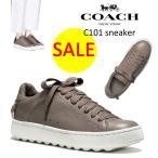 SALE!【正規品】送料無料★COACH コーチ c101 sneaker FOG グレー スニーカー ロートップスニーカー レディース 靴