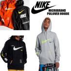 Nike NSW ナイキ スポーツウェア MICROBRAND PULLOVER HOODIE マイクロブランド ロゴ プルオーバー フーディ パーカー 黒 グレー  正規品 送料無料 US直輸入