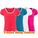 【子供用】ウィルソン ジュニア(ガールズ) 2015 エリート ゲームシャツ (WRA709)Wilson Girl's Nvision Elite Cap-Sleeve Top【2015年8月登録 テニスウェア】