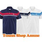【USサイズ】セルジオ タッキーニ 2015 メンズ ヘリテイジ ポロシャツ(031791) Sergio Tacchini Men's Heritage Young Kine Polo【2015年9月登録 テニスウェア】