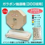 木製ガラポン抽選器(300球用)+抽選球250球付 ガラガラ抽選機・ガラポン 福引 通販イベントに