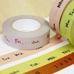 【メール便対応可】マスキングテープ 倉敷意匠計画室 3色セット[曜日・数字][マスキングテープ]