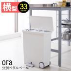 oraオルア ヨコ型 分別ペダルペール 33L ゴミ箱 日本製