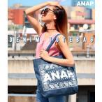 『ANAP』ロゴペイズリーデニムトートバッグ ANAP(アナップ)