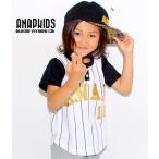 箔プリントベースボールTシャツ ANAP KIDS(アナップキッズ)
