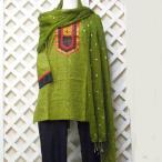 パンジャビドレス3点セット コットン インド民族衣装 サルワールカミーズ ボリウッド パーティドレス