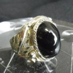 指輪 スターオブシディアンリング ブラックオニキスリング 大粒 10号 シルバー ゴージャス 花の石枠