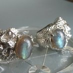 ラブラドライト指輪 925銀 スターリングシルバー 銀太郎 父の日