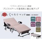 【送料無料】ATEX(アテックス) くつろぐベッド収納式リクライニング 2モーター電動ベッド  AX-BE837 日本製   東洋紡ブレスエアー  介護 ソファモード