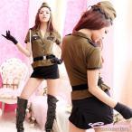 コスプレ 衣装 ミリタリー アーミー 警官 婦人警官 婦警さん 警察官 SWAT 無地 女性 大人 シャツブラウス スカート ベルト 帽子 手袋 Tバック【6点セット】