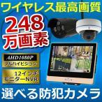 防犯カメラ ワイヤレス  屋外  1台 セット ドーム バレット レコーダーセット (HDD1TB付き)