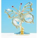 カラフル 蝶 置物 2 スワロフスキー クリスタル 誕生日 プレゼント 女性 お祝い ギフト 記念日 置き物