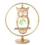 プレゼント 縁起物 フクロウの置物6 スワロフスキー クリスタル 誕生日 プレゼント 男性 女性 お祝い ギフト 記念日 置き物
