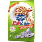 コンボ キャット 肥満が気になる猫用 かつお味 鮭チップ かつお節添え 140g 5袋入
