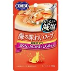 日本ペット コンボキャット海の味わいスープパウチ おいしい減塩 まぐろとかにかまとしらす添え 40g CA-7