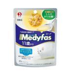 ペットライン メディファススープパウチ 11歳から老齢猫用 しらす・かつお節入り 40g MFP-5