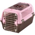 リッチェル キャンピングキャリー ダブルドアM 小型犬・猫用 ライトピンク