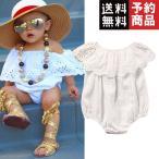 かわいい新生児女の赤ちゃんロンパース服白いレース遊び着/予約品