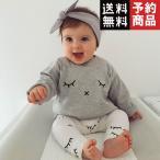BABYセットコットンラブリー新生児ベビーセット女の子Tシャツトップス+ロングパンツBABYセット服/予約品