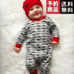 赤ちゃん,長袖,イラストのひげのベビーウォーク,ツカジュアルなロンパース,ジャンプスーツ/予約品