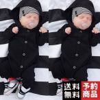 かわいい新生児の赤ちゃん/男の子/女の子ボタンフード付きロンパース/予約品