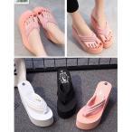 ショッピングウエッジ 3color!【夏新作】 ビーチサンダル  11CM ファッションとして普段でも使える 水着用サンダル カジュアル  靴  レディース おしゃれ  厚底