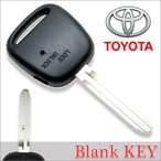 【DM便送料無料】 高品質ブランクキー トヨタ 横1穴ワイヤレスボタン スペア キーカギ 鍵 純正 割れ交換に 合鍵