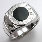 リング メンズリング メンズ プラチナ 指輪 オニキス ダイヤモンド 印台 オーダー 手作り