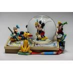 コマ割り漫画アーティストミッキースノーグローブ/Comic Strip Artists Mickey Mouse Snowglobe