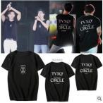 送料無料◆ ◆ 2019新品◆ TVXQ(東方神起) CIRCLE welcome 半袖Tシャツ 応援服 男女兼用 春夏Tシャツ