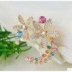 Yahoo! Yahoo!ショッピング(ヤフー ショッピング)ブローチきらきらビジュークリスタル水晶お花ビジューブローチ