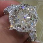 指輪 レディース 大粒ジルコニア リング 円形 エタニティー czダイヤモンド 結婚式 プラチナGP 女性 送料無料