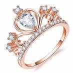 指輪 レディース 王冠ジルコニアリング クラウン 王妃 czダイヤモンド プラチナ 女性 送料無料
