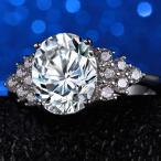 指輪 レディース 煌くジルコニアリング 楕円 czダイヤモンド プラチナ 女性 シルバー925 送料無料